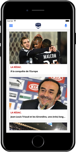Application iPhone Girondins